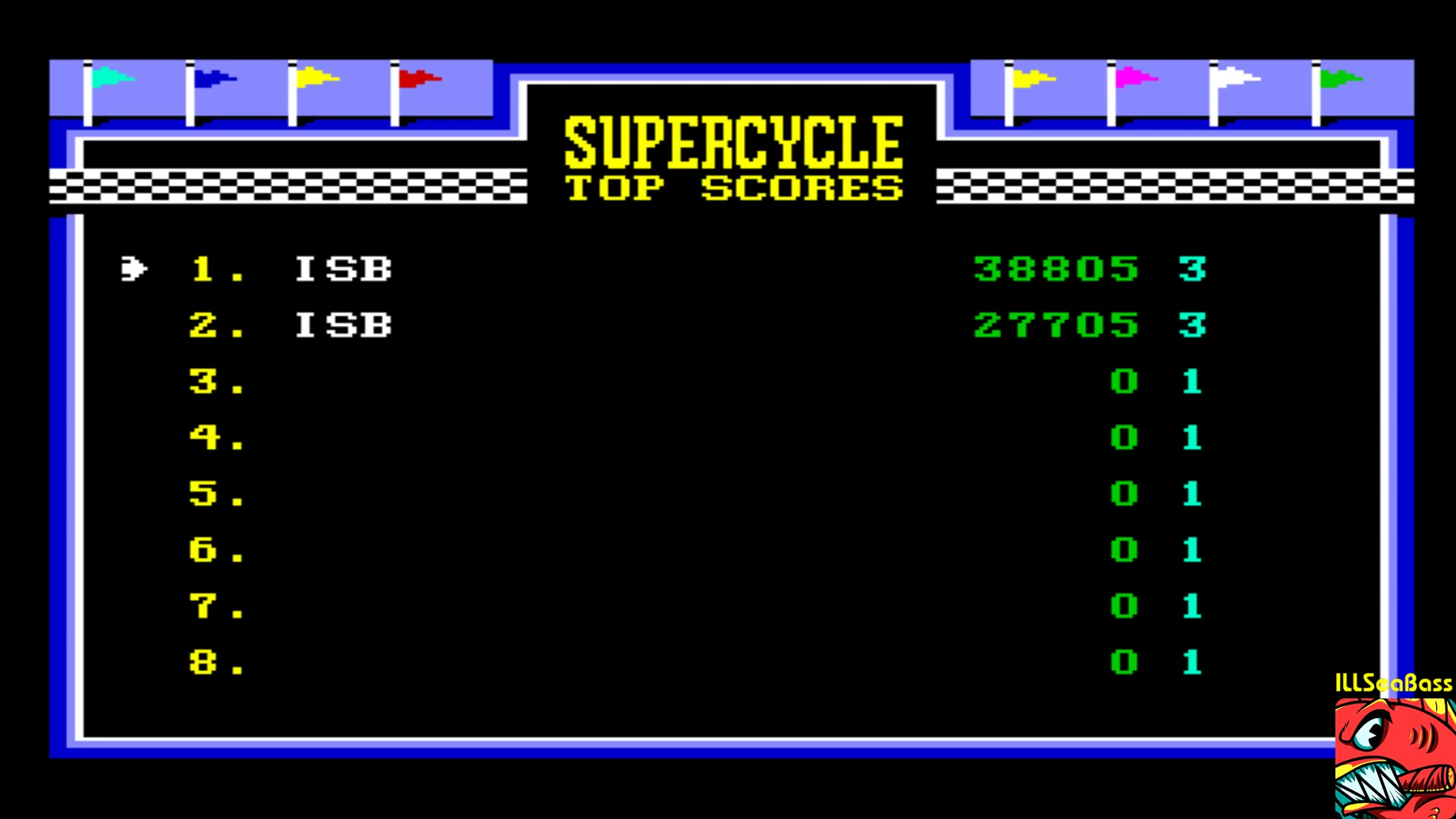 ILLSeaBass: Super Cycle [Level 3 Start] (Commodore 64 Emulated) 38,805 points on 2018-02-01 20:45:26