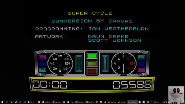 GTibel: Super Cycle [Level 3] (ZX Spectrum Emulated) 5,588 points on 2019-01-29 08:38:19