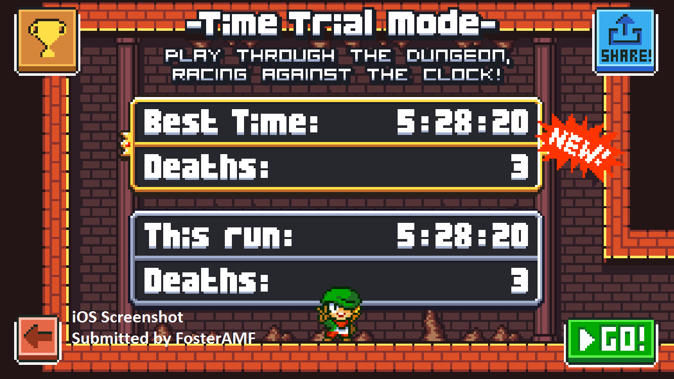 FosterAMF: Super Dangerous Dungeons: Fire Dungeon [Time Trial] (iOS) 0:05:28.2 points on 2015-12-13 00:54:14