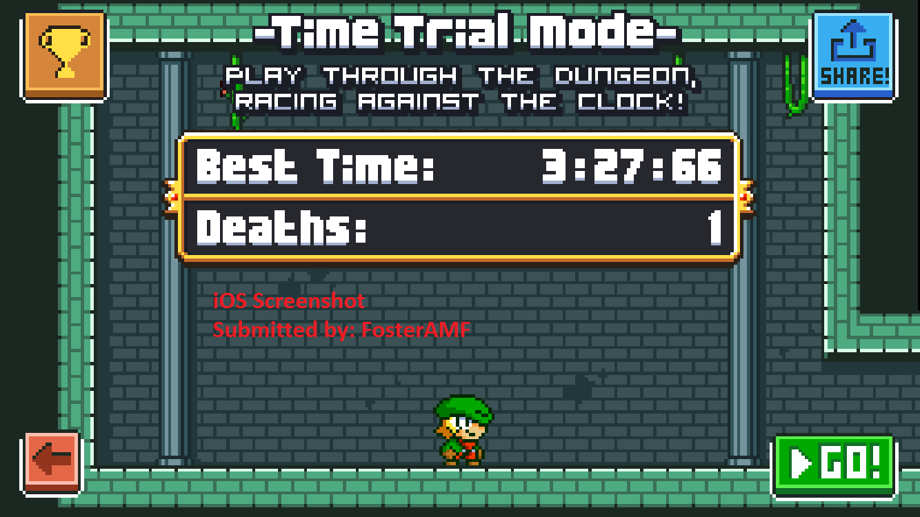 FosterAMF: Super Dangerous Dungeons: Grass Dungeon [Time Trial] (iOS) 0:03:27.66 points on 2015-12-02 16:27:03