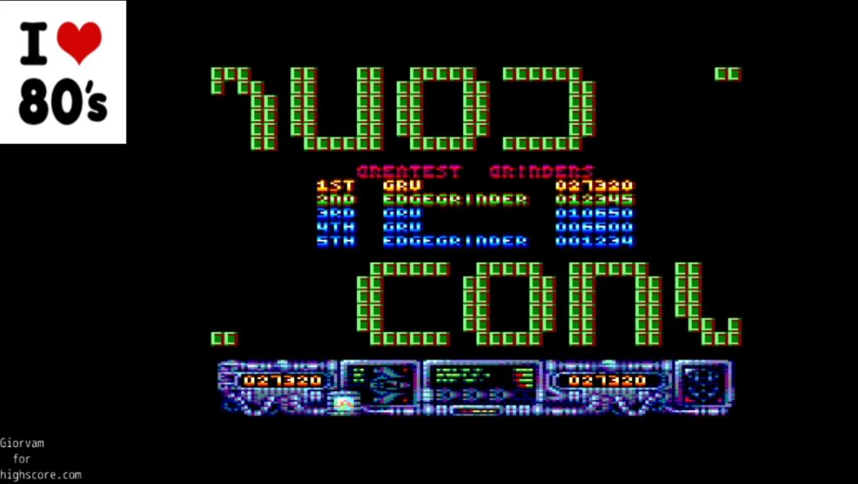 Giorvam: Super Edge Grinder (Amstrad CPC Emulated) 27,320 points on 2020-01-09 04:03:25