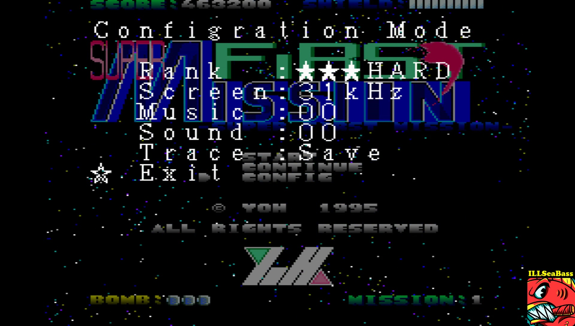 ILLSeaBass: Super First Mission [Hard] (Sharp X68000 Emulated) 35,200 points on 2017-06-28 19:41:42