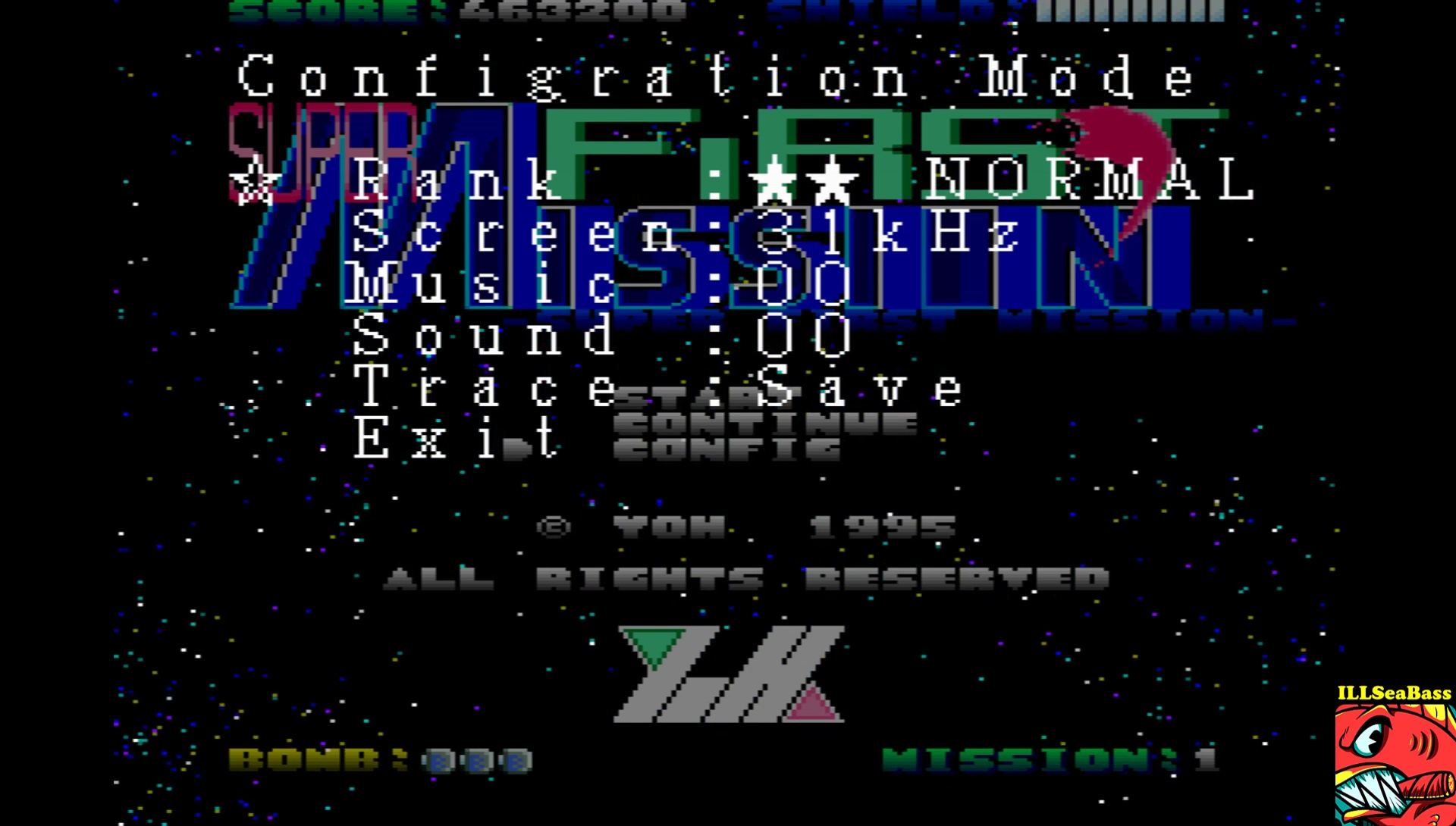 ILLSeaBass: Super First Mission [Normal] (Sharp X68000 Emulated) 57,200 points on 2017-06-27 22:32:31