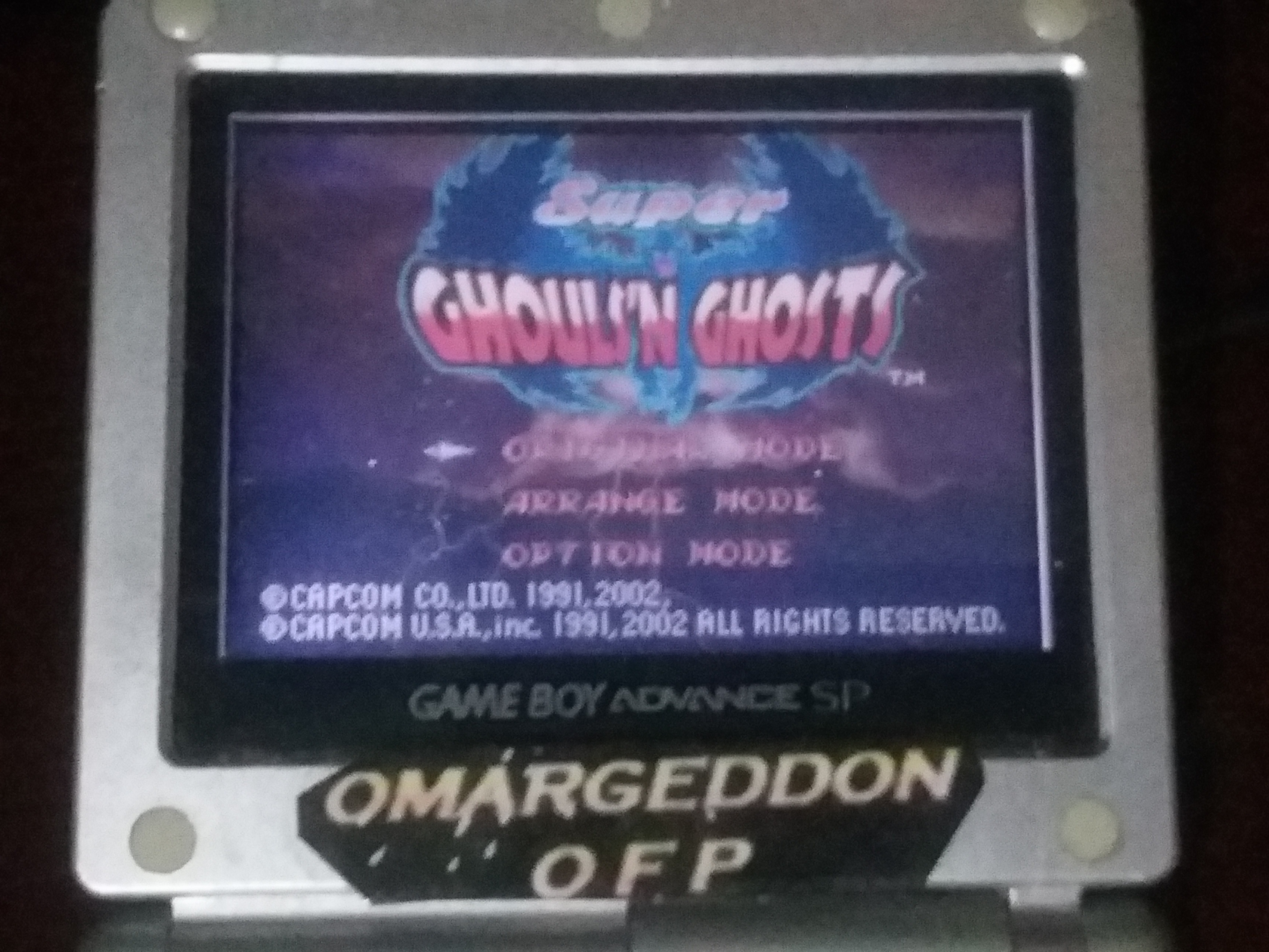 omargeddon: Super Ghouls N Ghosts [Original Mode] (GBA) 11,500 points on 2018-04-25 20:43:17