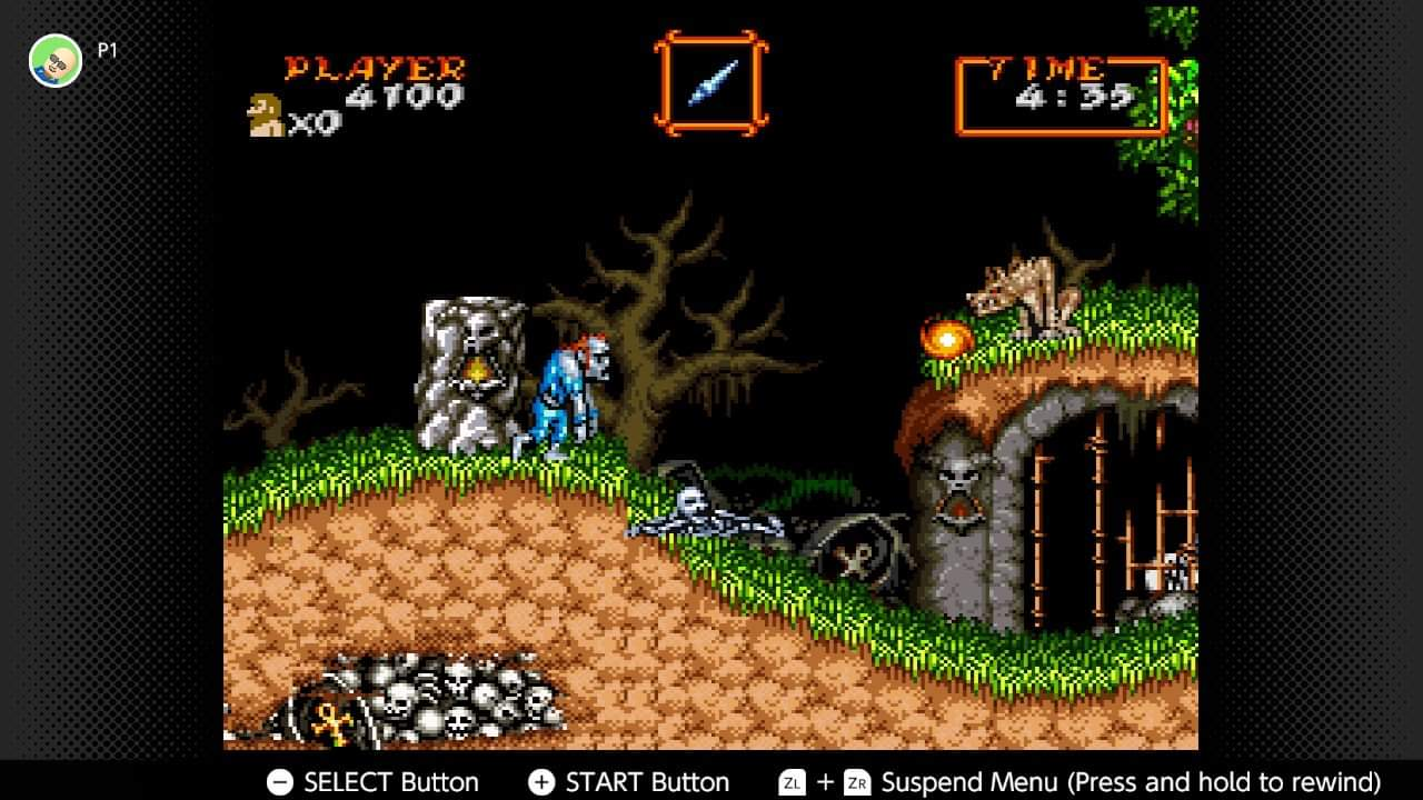 Super Ghouls N Ghosts 4,100 points