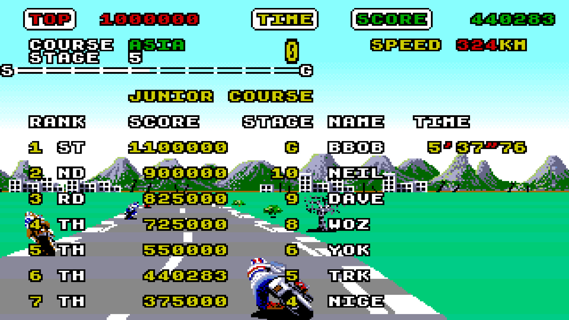TheTrickster: Super Hang-On [Junior Course] (Amiga Emulated) 440,283 points on 2015-08-06 07:31:28