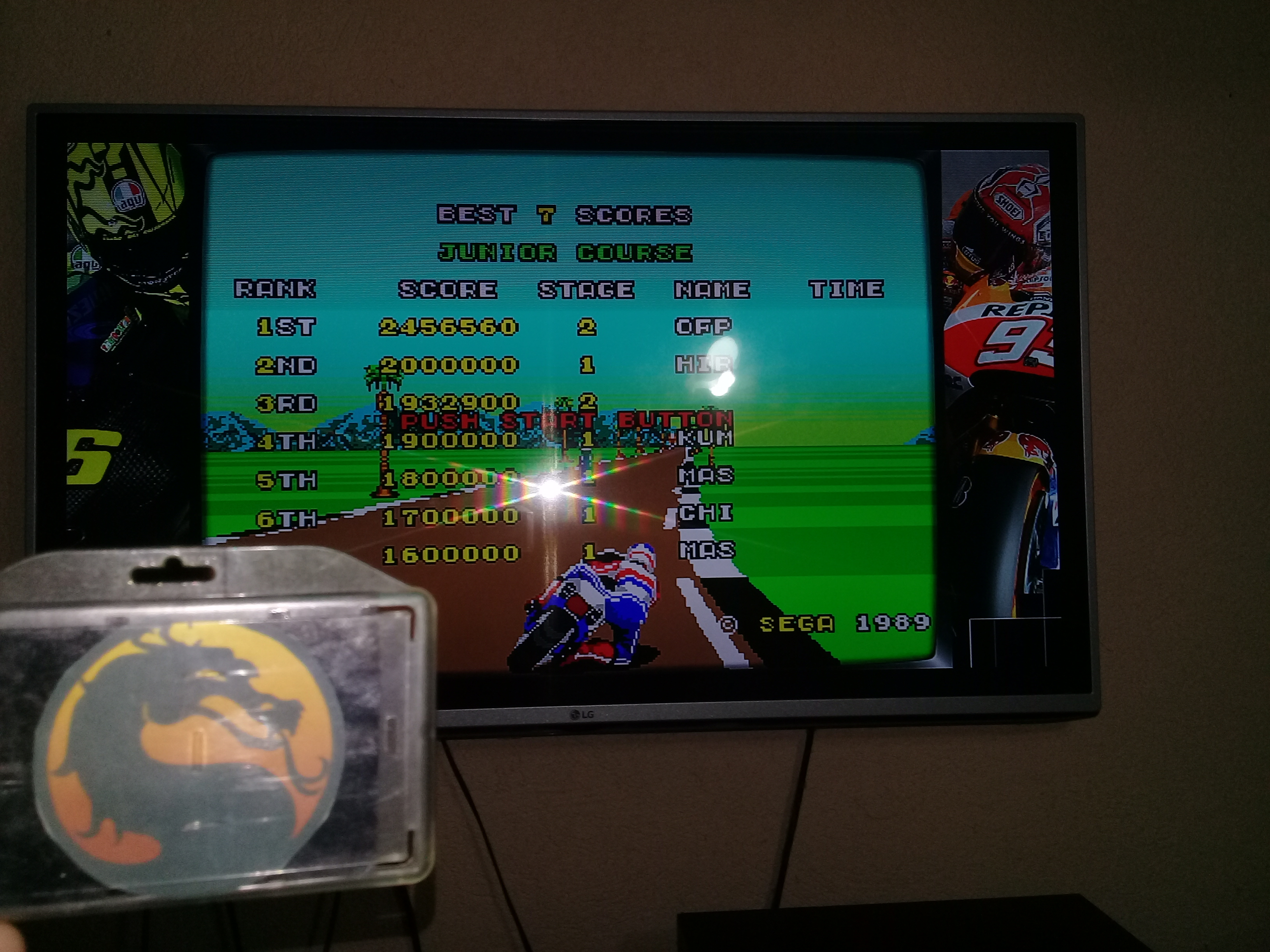 omargeddon: Super Hang-On [Junior Course] (Sega Genesis / MegaDrive Emulated) 2,456,560 points on 2020-07-03 22:56:37