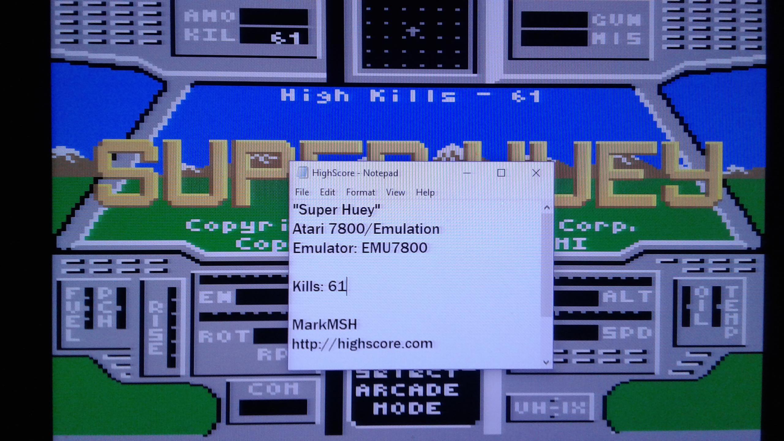 Super Huey: Arcade Mode [Kills] 61 points