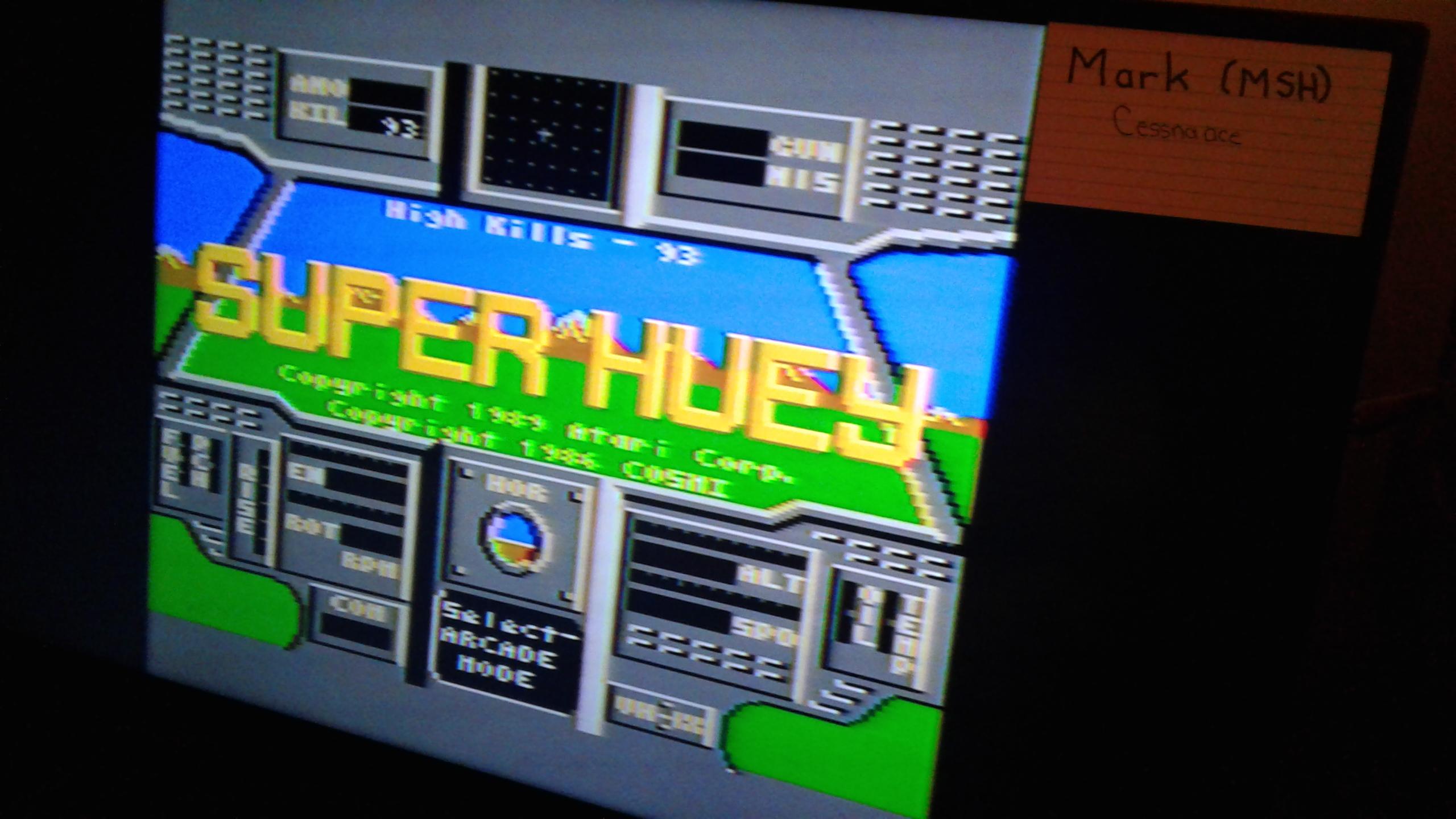 Super Huey: Arcade Mode [Kills] 93 points