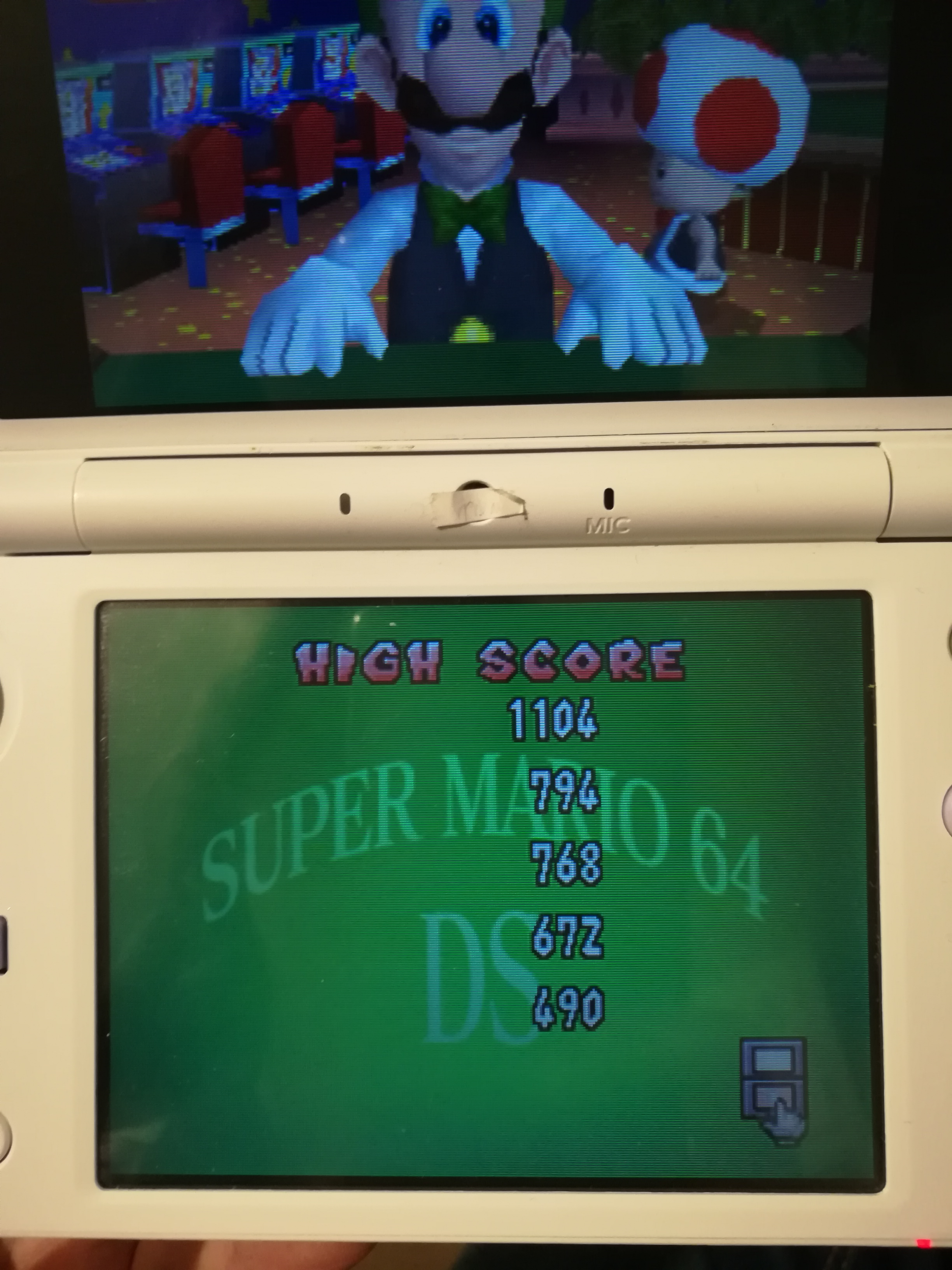 Super Mario 64 DS: Pair-a-Gone and On 1,104 points