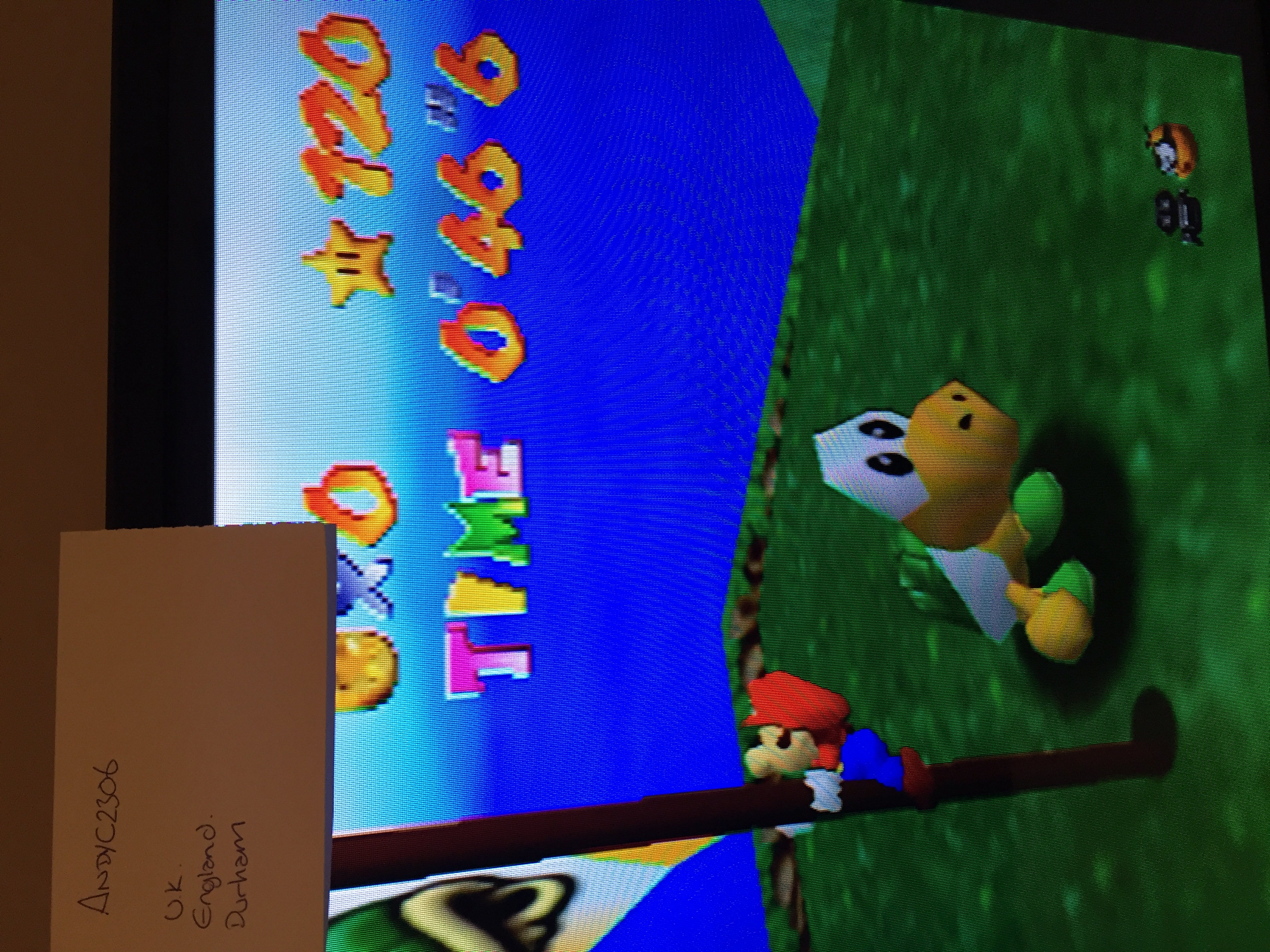 AndyC2306: Super Mario 64: Footrace with Koopa The Quick (Wii Virtual Console: N64) 0:00:46.6 points on 2016-01-22 14:36:30