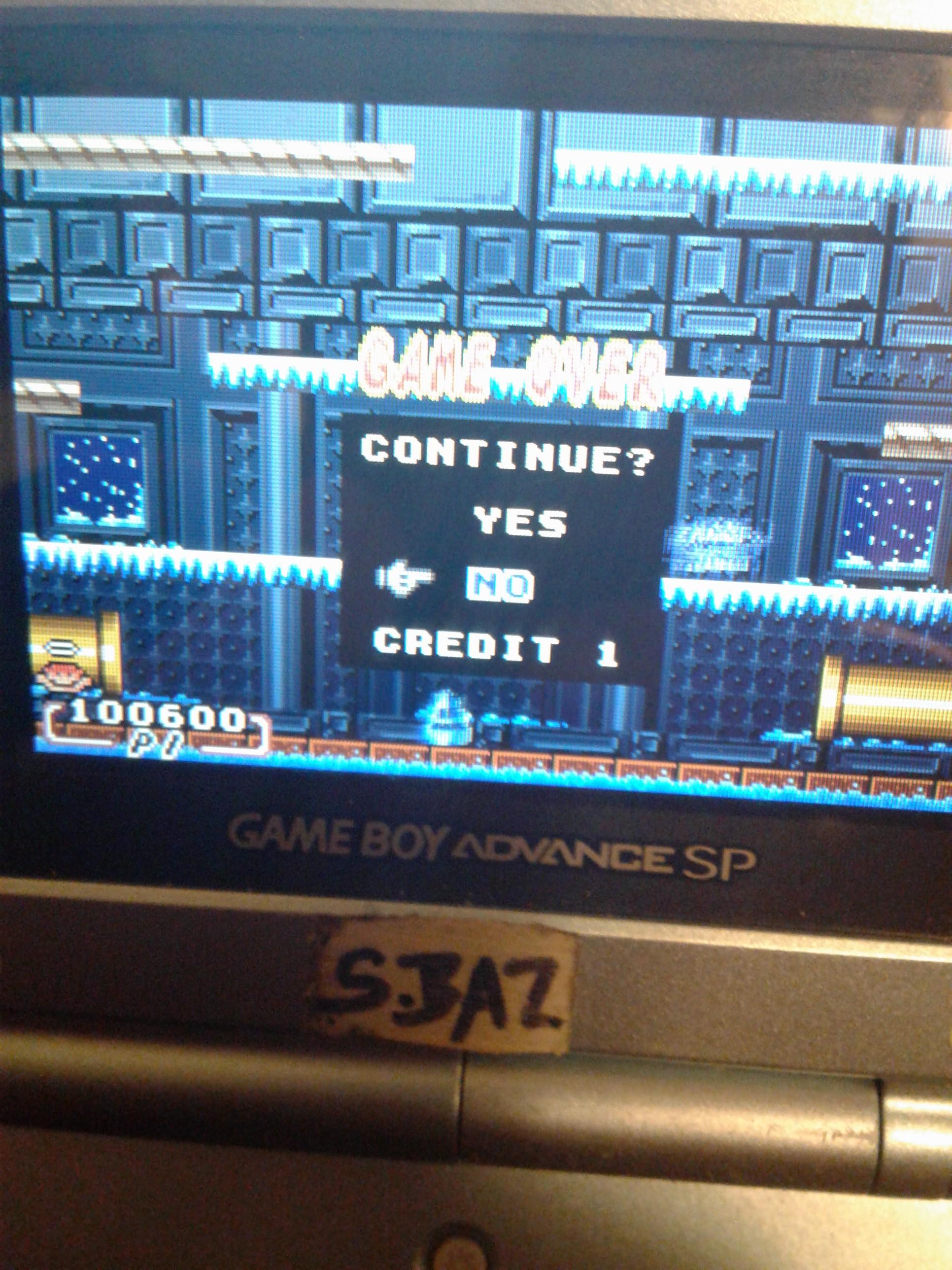 S.BAZ: Super Mario Advance 2: Mario Bros (GBA) 100,600 points on 2019-11-07 10:06:20