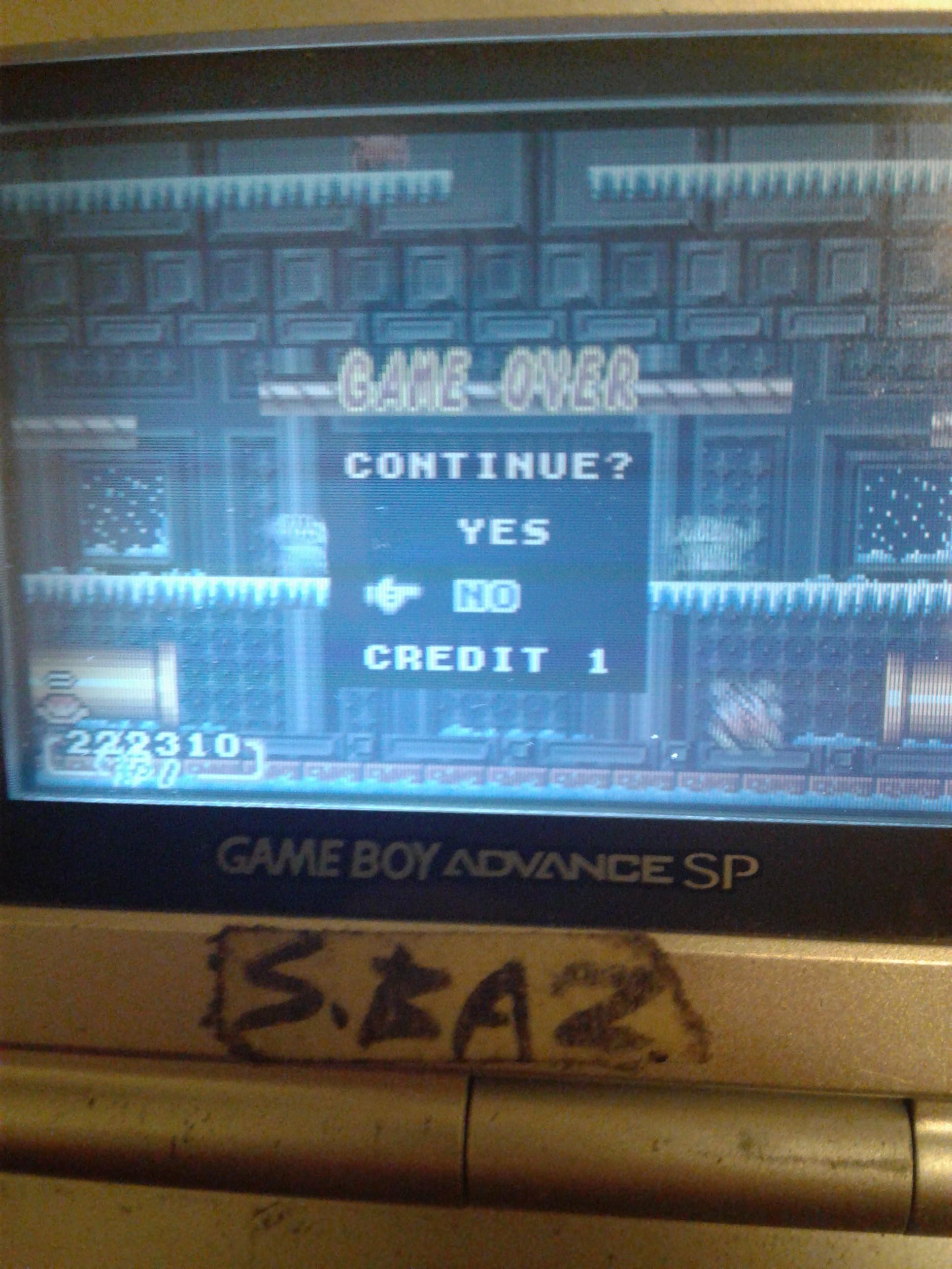 S.BAZ: Super Mario Advance: Mario Bros (GBA) 222,310 points on 2019-11-07 10:04:17