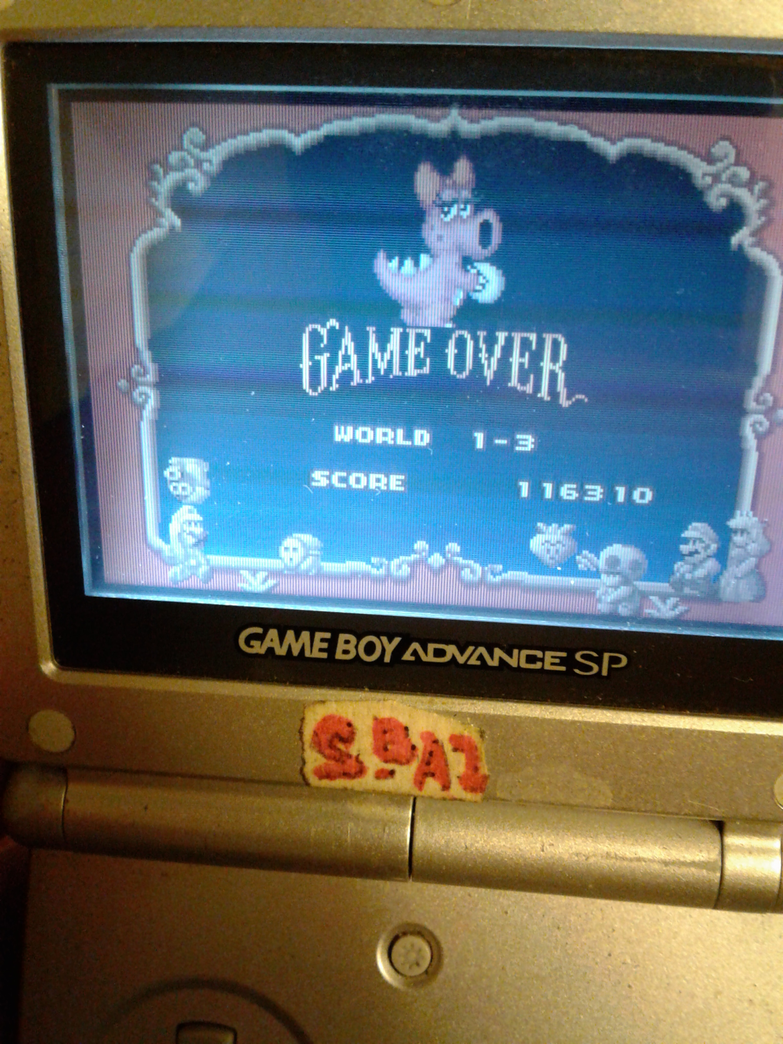 BAZ: Super Mario Advance: Super Mario Bros 2 (GBA) 116,310 points on 2020-01-21 21:30:36