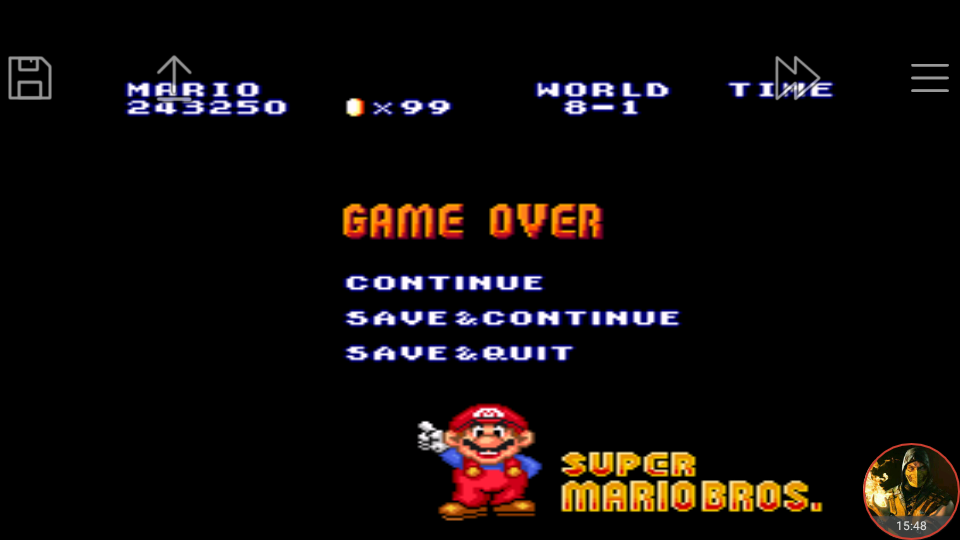 omargeddon: Super Mario All-Stars: Super Mario Bros [1 Life] (SNES/Super Famicom Emulated) 243,250 points on 2018-06-17 21:31:56