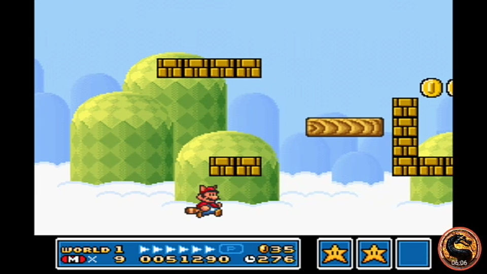 Super Mario All-Stars: Super Mario Bros 3 [1 Life] 51,290 points