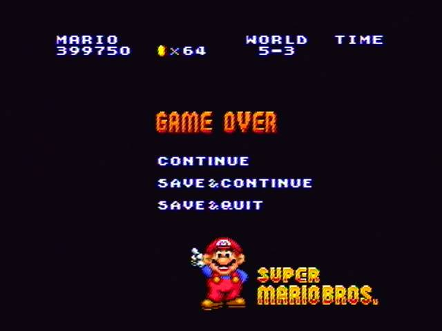 derek: Super Mario All-Stars: Super Mario Bros (SNES/Super Famicom) 399,750 points on 2017-01-30 14:43:17