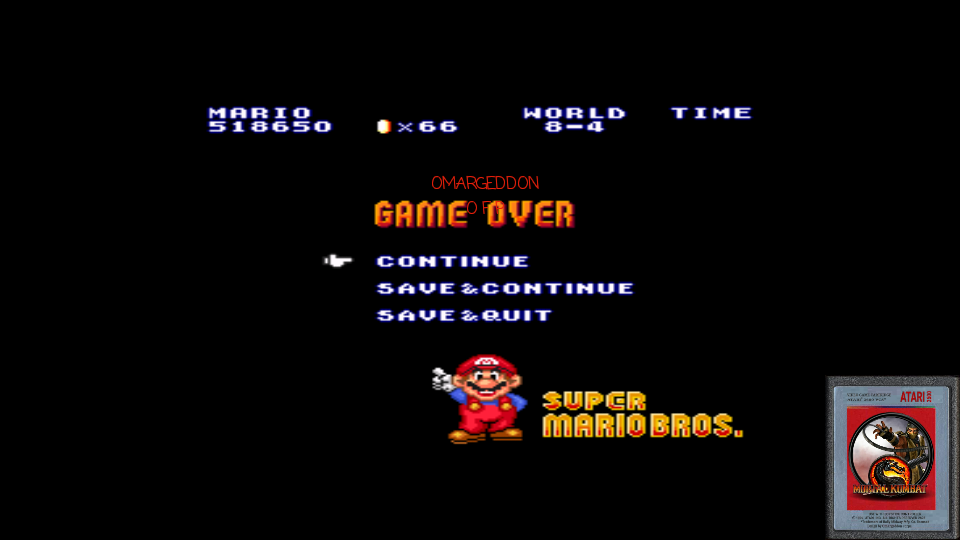 Super Mario All-Stars: Super Mario Bros 518,650 points