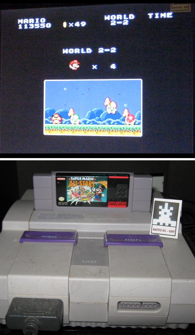 Super Mario All-Stars: Super Mario Bros: The Lost Levels [1 Life] 113,550 points