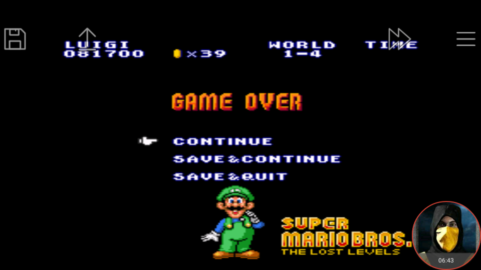 omargeddon: Super Mario All-Stars: Super Mario Bros: The Lost Levels [1 Life] (SNES/Super Famicom Emulated) 81,700 points on 2018-05-02 00:53:47