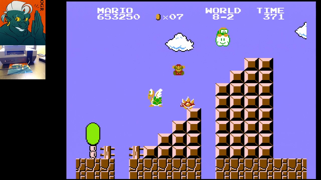 AwesomeOgre: Super Mario Bros. [1 Life] (NES/Famicom) 653,250 points on 2020-06-17 06:55:24