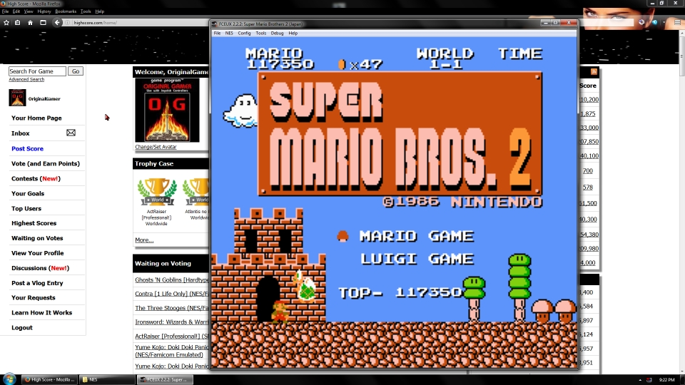 OriginalGamer: Super Mario Bros. 2 [Japanese Version] (NES/Famicom Emulated) 117,350 points on 2016-09-19 01:54:48