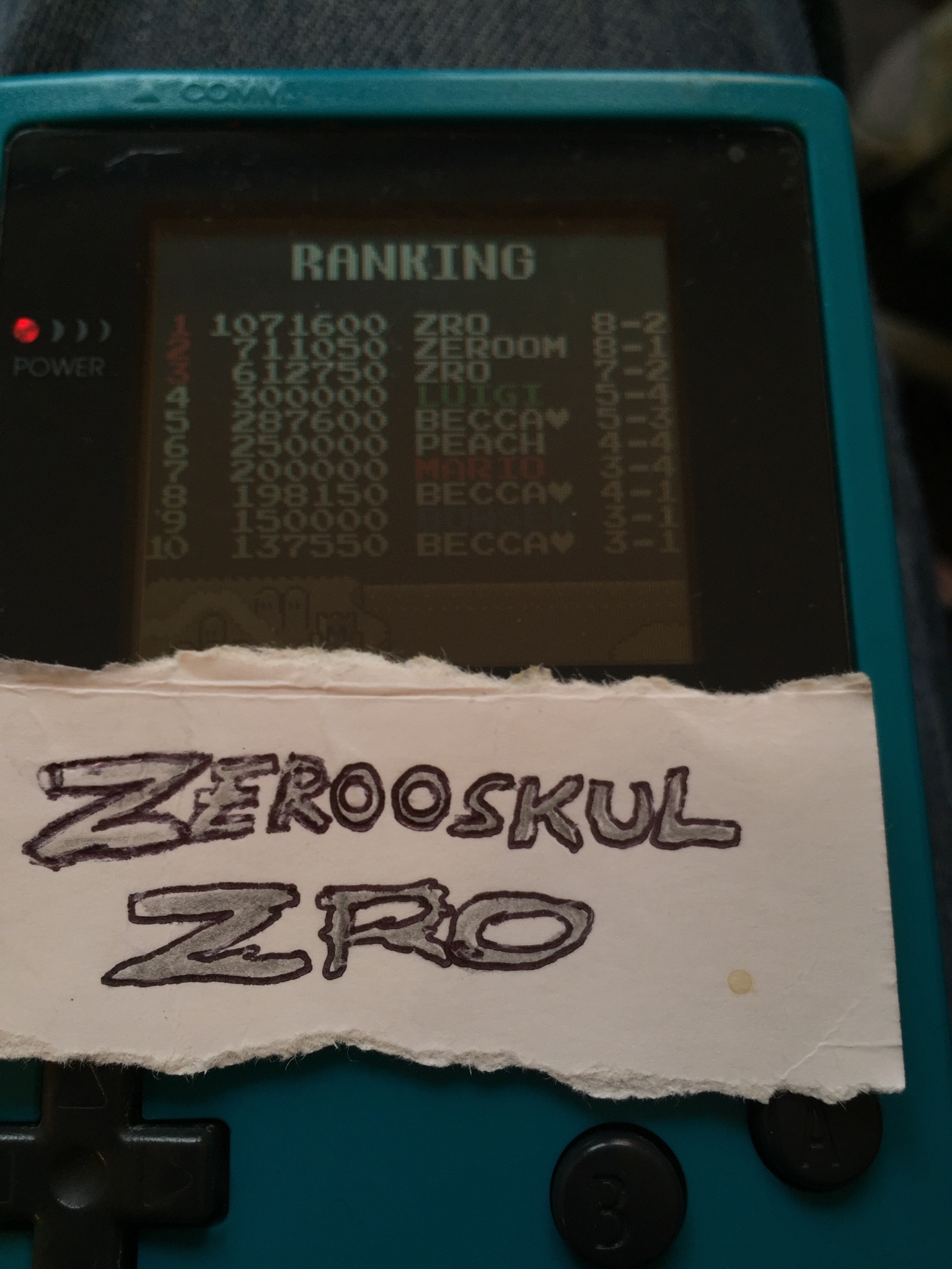 zerooskul: Super Mario Bros Deluxe (Game Boy Color) 1,071,600 points on 2018-06-05 15:21:31
