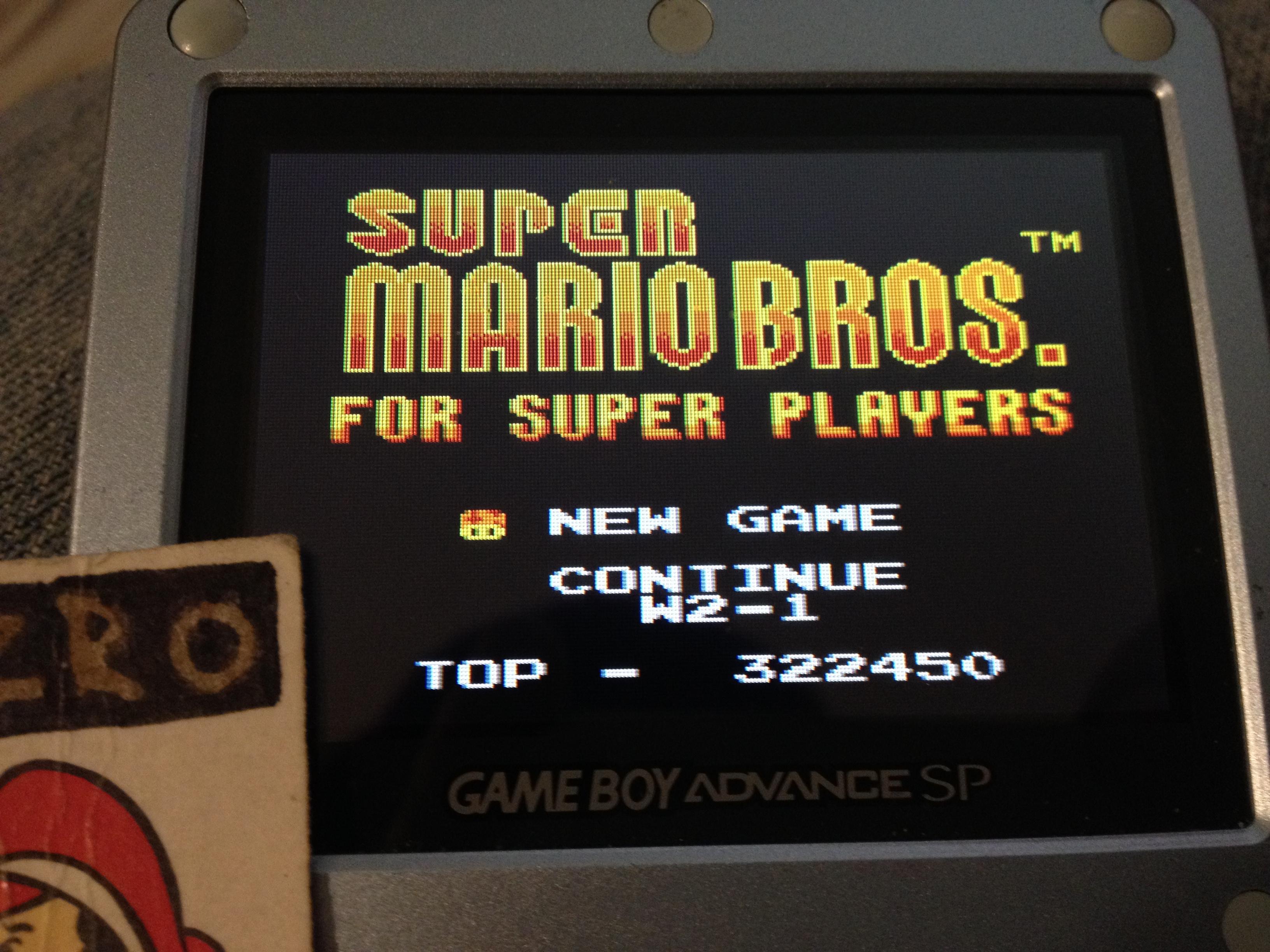 zerooskul: Super Mario Bros Deluxe: Super Mario Bros For Super Players (Game Boy Color) 322,450 points on 2019-05-04 13:05:15