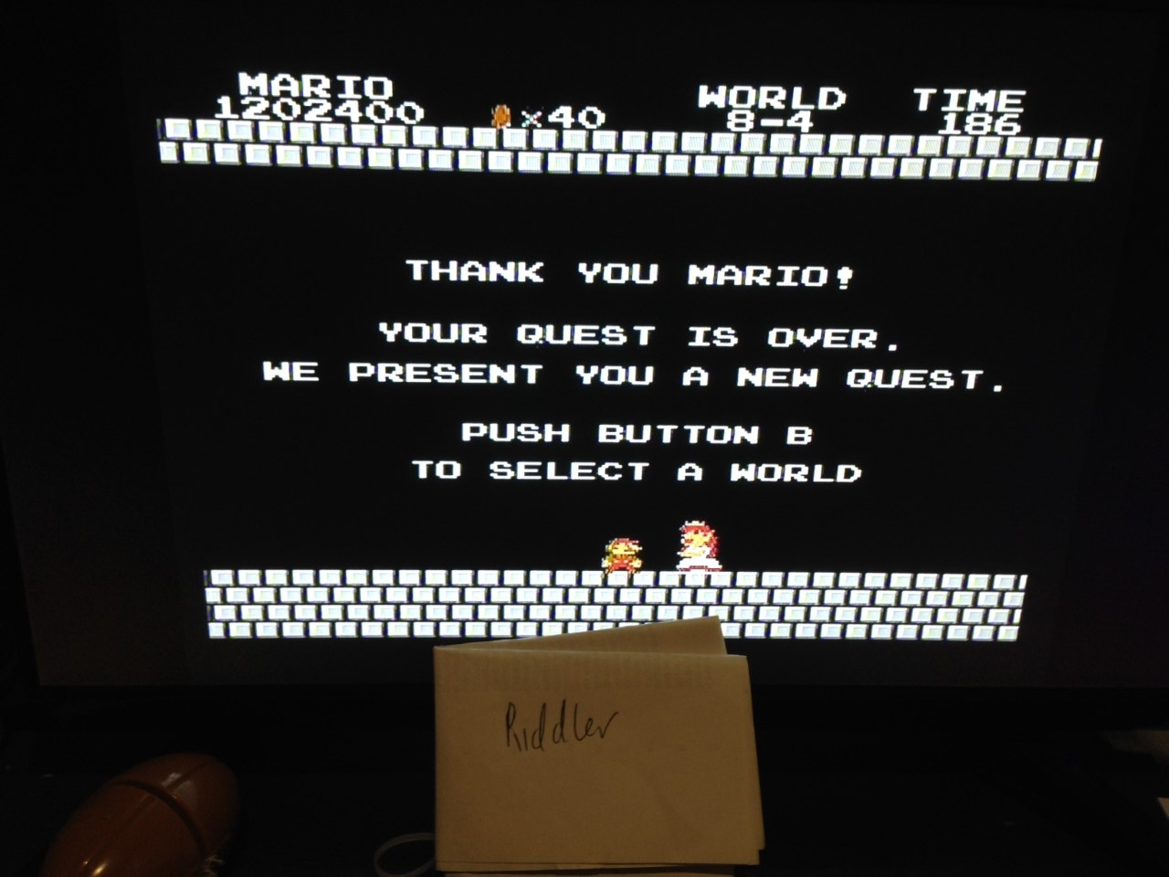 Riddler: Super Mario Bros. (NES/Famicom) 1,202,400 points on 2020-09-15 15:26:18