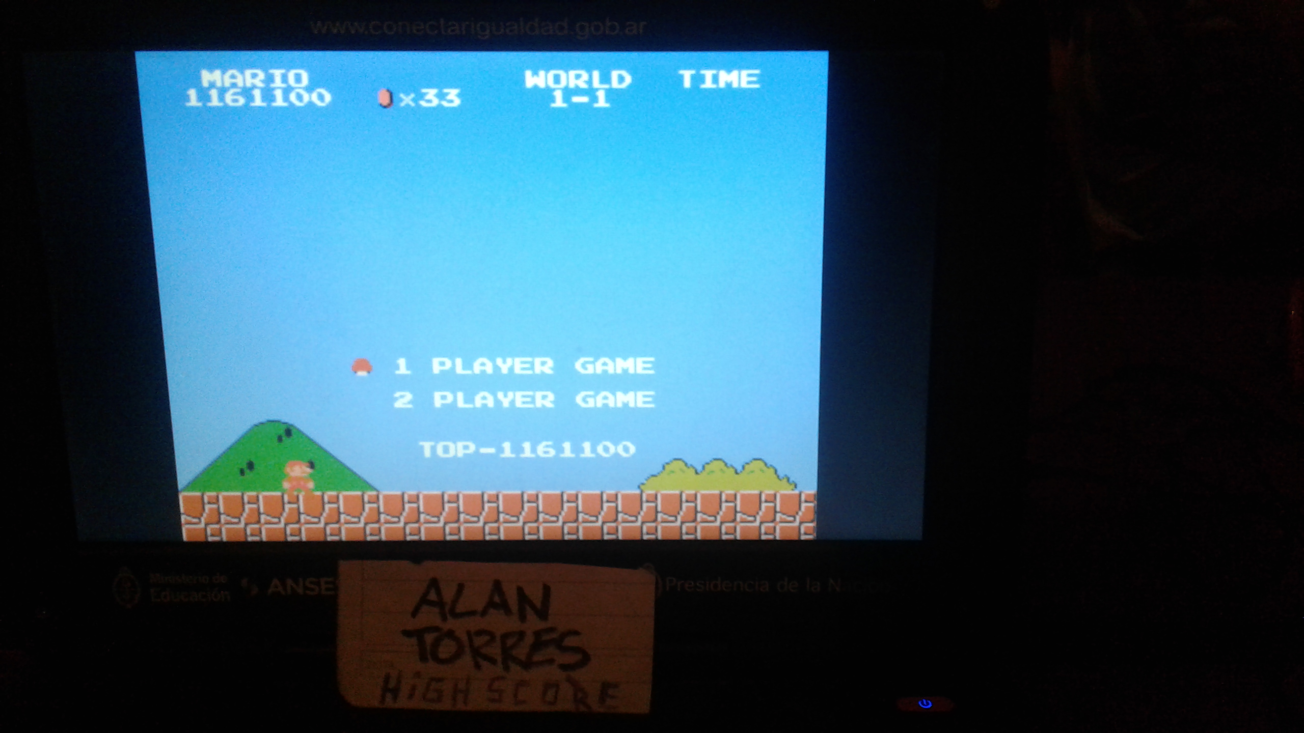 AlanTorres: Super Mario Bros. (NES/Famicom Emulated) 1,161,100 points on 2017-10-18 16:20:33