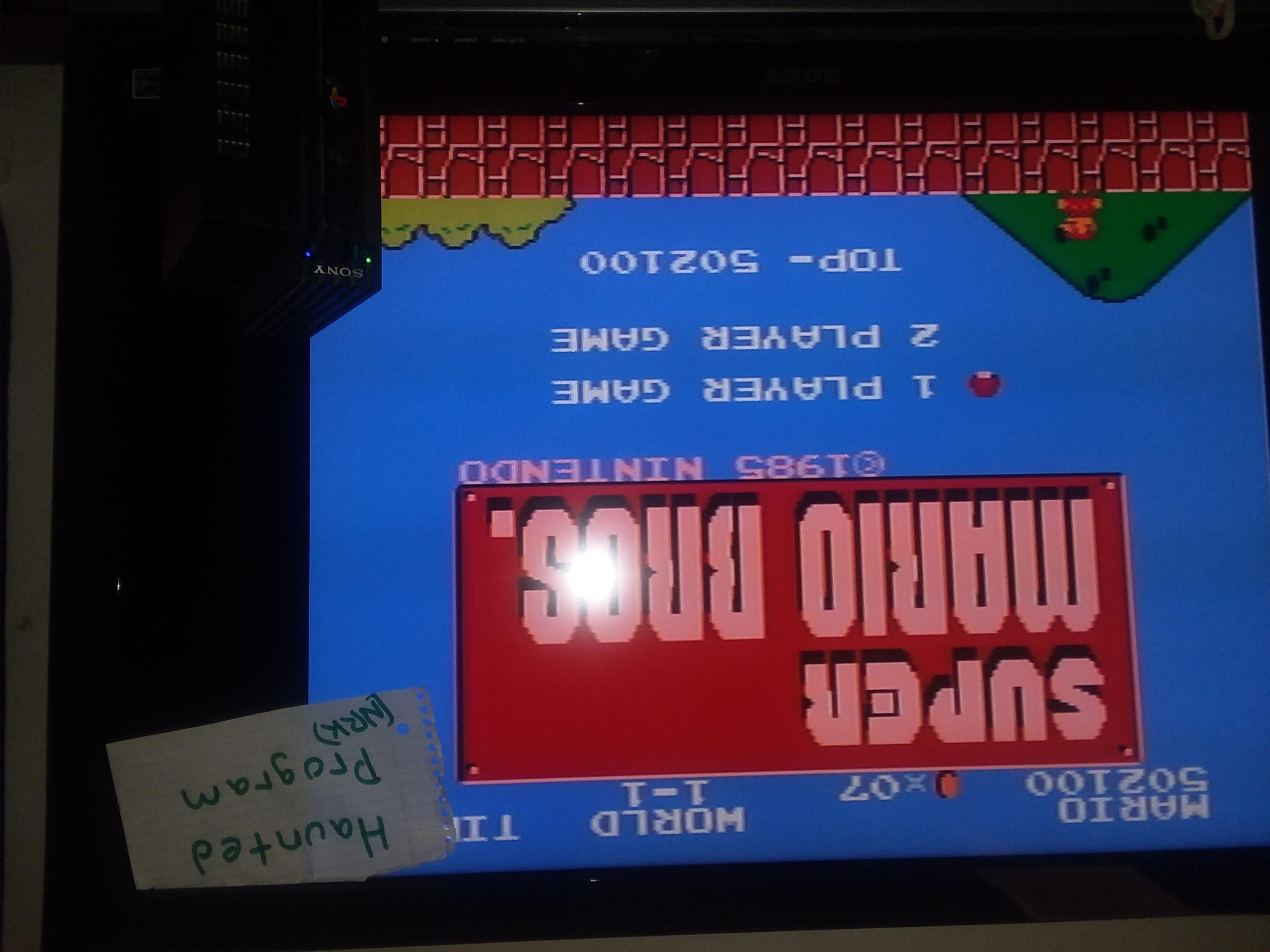 Super Mario Bros. 502,100 points