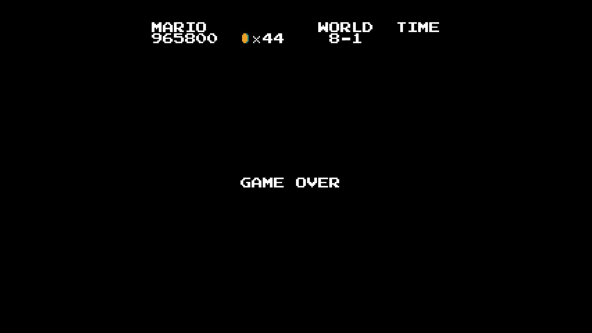 Super Mario Bros. 965,800 points