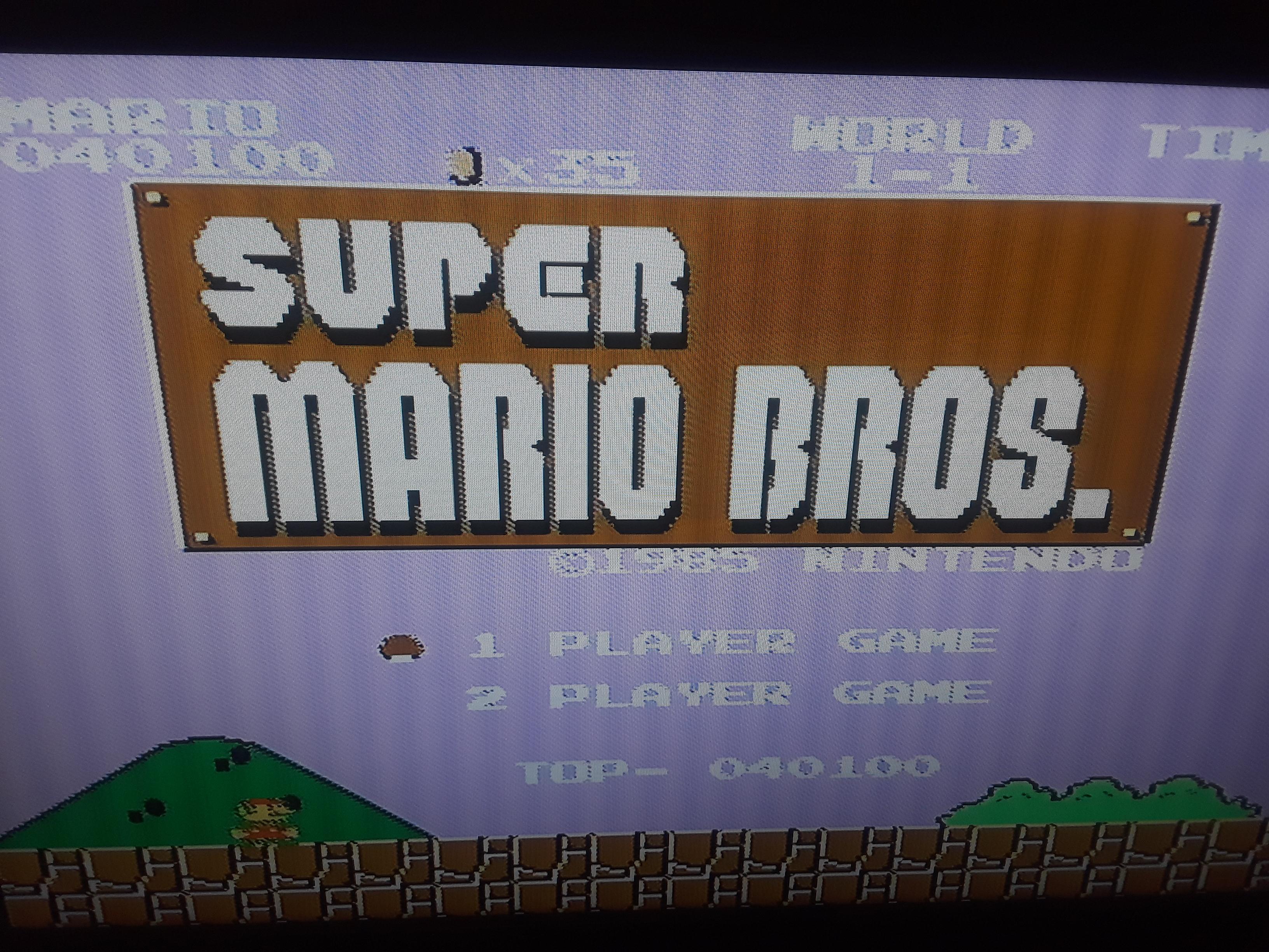 Super Mario Bros. [No Farming] 40,100 points