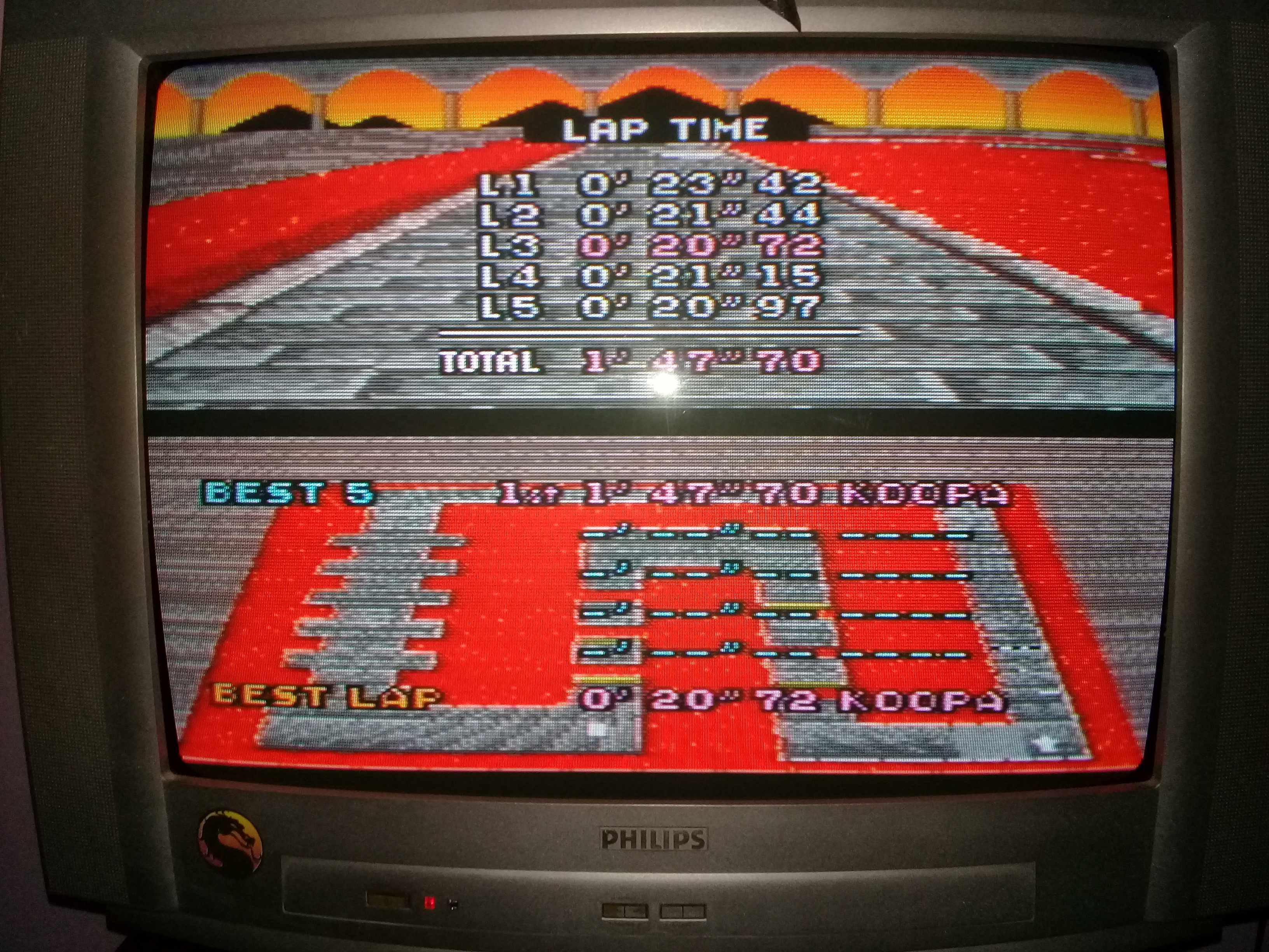 omargeddon: Super Mario Kart: Bowser Castle 1 [Time Trial] (SNES/Super Famicom) 0:01:47.7 points on 2020-05-06 19:41:38