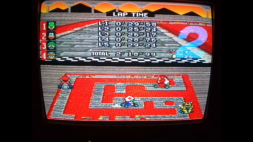 omargeddon: Super Mario Kart: Bowser Castle 2 [100cc] [Lap Time] (SNES/Super Famicom) 0:00:25.24 points on 2020-04-27 12:56:58