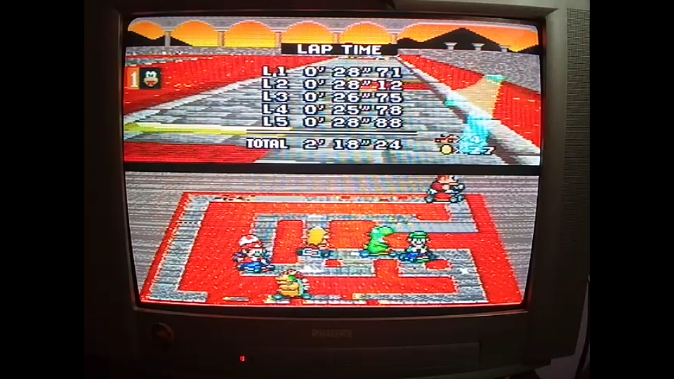 omargeddon: Super Mario Kart: Bowser Castle 2 [50cc] [Lap Time] (SNES/Super Famicom) 0:00:25.78 points on 2020-04-27 00:46:14