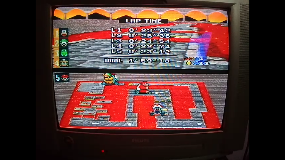 omargeddon: Super Mario Kart: Bowser Castle 3 [50cc] [Lap Time] (SNES/Super Famicom) 0:00:22.74 points on 2020-04-27 01:08:38