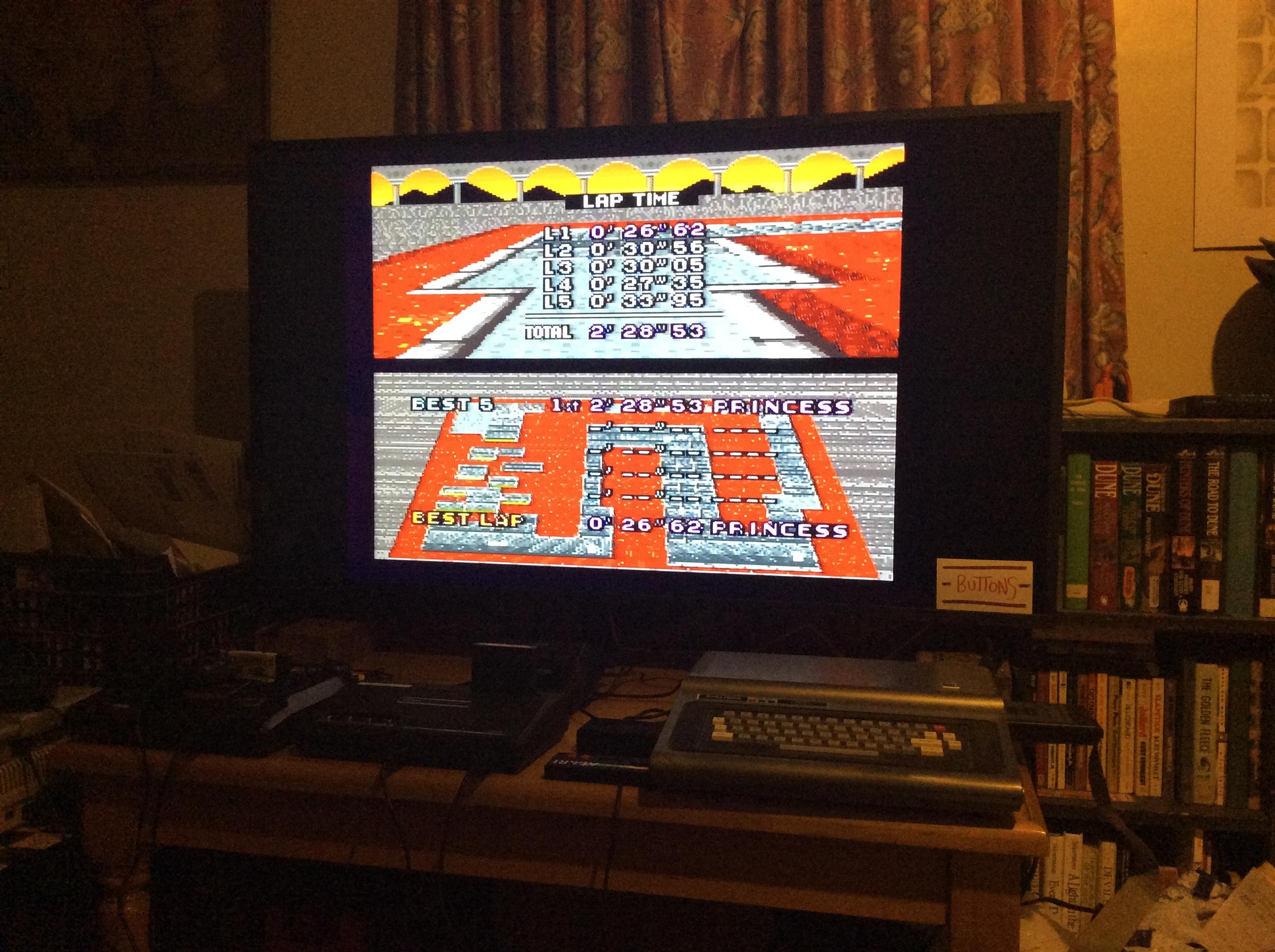 Super Mario Kart: Bowser Castle 3 [Time Trial] time of 0:02:28.53