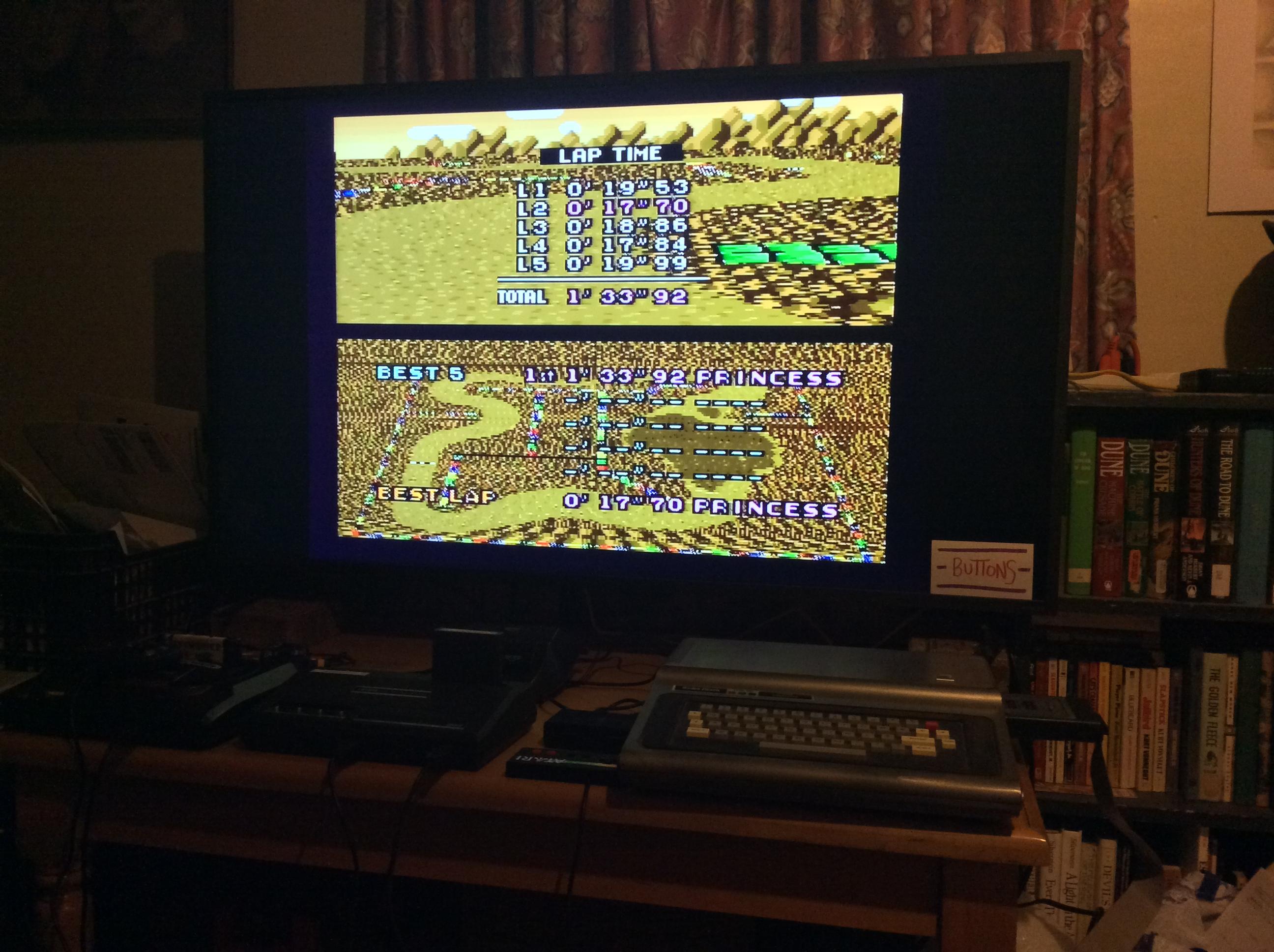 Super Mario Kart: Choco Island 2 [Time Trial] time of 0:01:33.92
