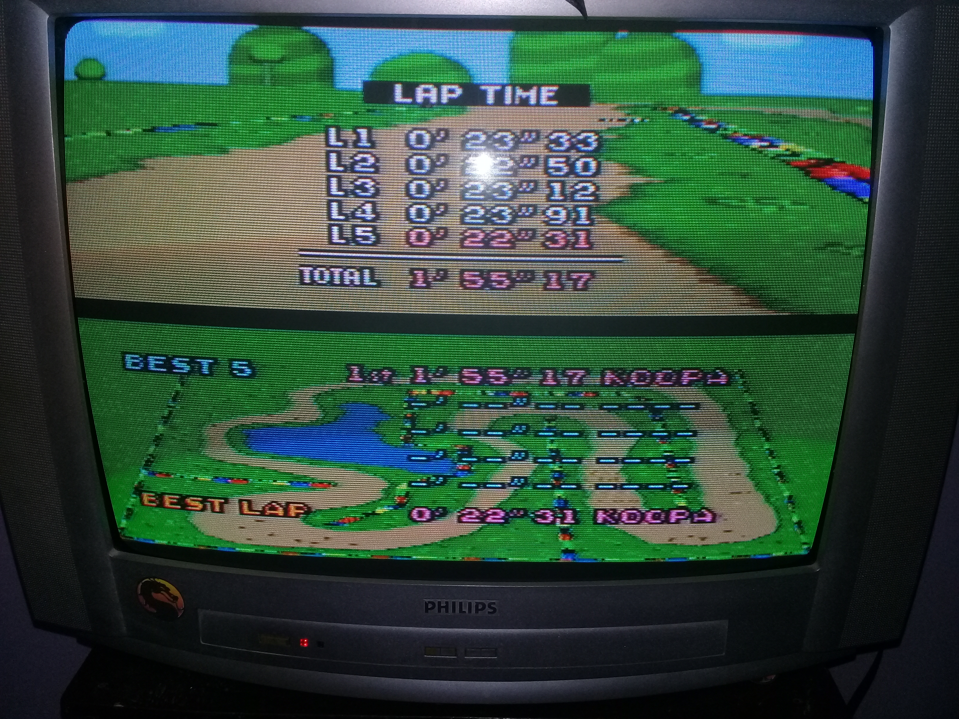 omargeddon: Super Mario Kart: Donut Plains 2 [Time Trial] (SNES/Super Famicom) 0:01:55.17 points on 2020-05-06 21:57:59