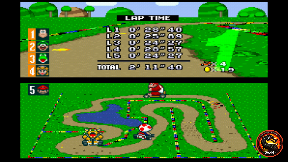 omargeddon: Super Mario Kart [Flower Cup: Donut Plains 2: 50CC] (SNES/Super Famicom Emulated) 0:02:11.4 points on 2020-01-07 13:52:19