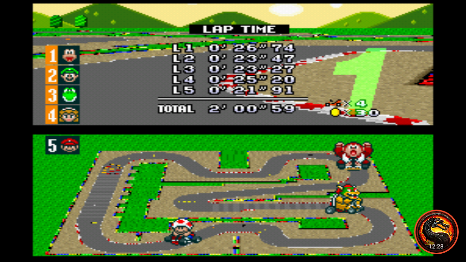 omargeddon: Super Mario Kart [Flower Cup: Mario Circuit 3: 50CC] (SNES/Super Famicom Emulated) 0:02:00.59 points on 2020-01-07 13:53:57