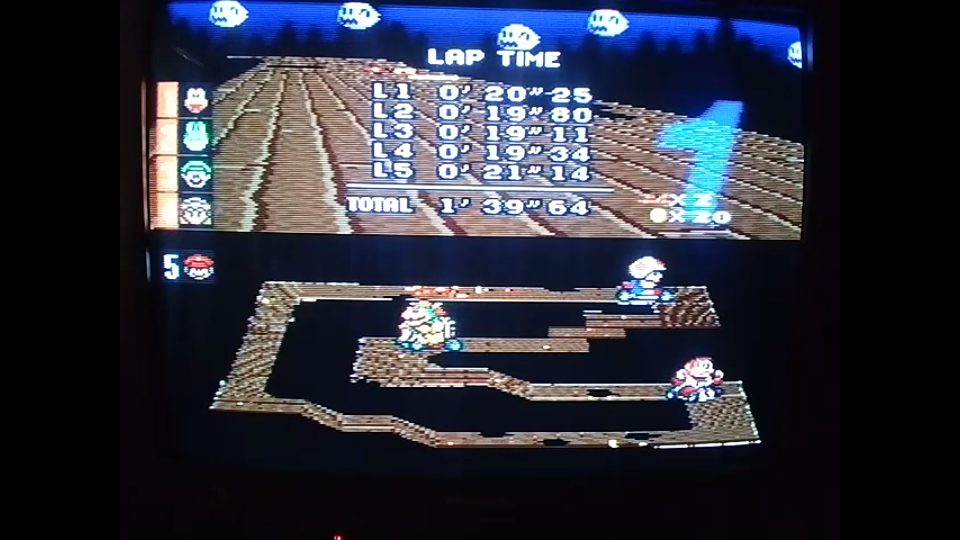 omargeddon: Super Mario Kart: Ghost Valley 3 [100cc] [Lap Time] (SNES/Super Famicom) 0:00:19.11 points on 2020-04-27 17:50:16