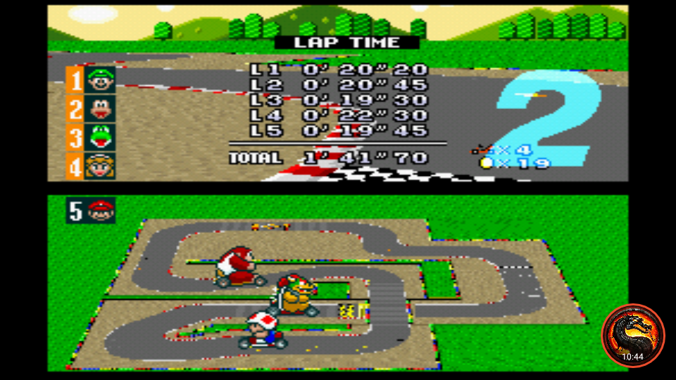omargeddon: Super Mario Kart: Mario Circuit 2 [100cc] [Lap Time] (SNES/Super Famicom Emulated) 0:00:19.3 points on 2020-02-09 01:01:17