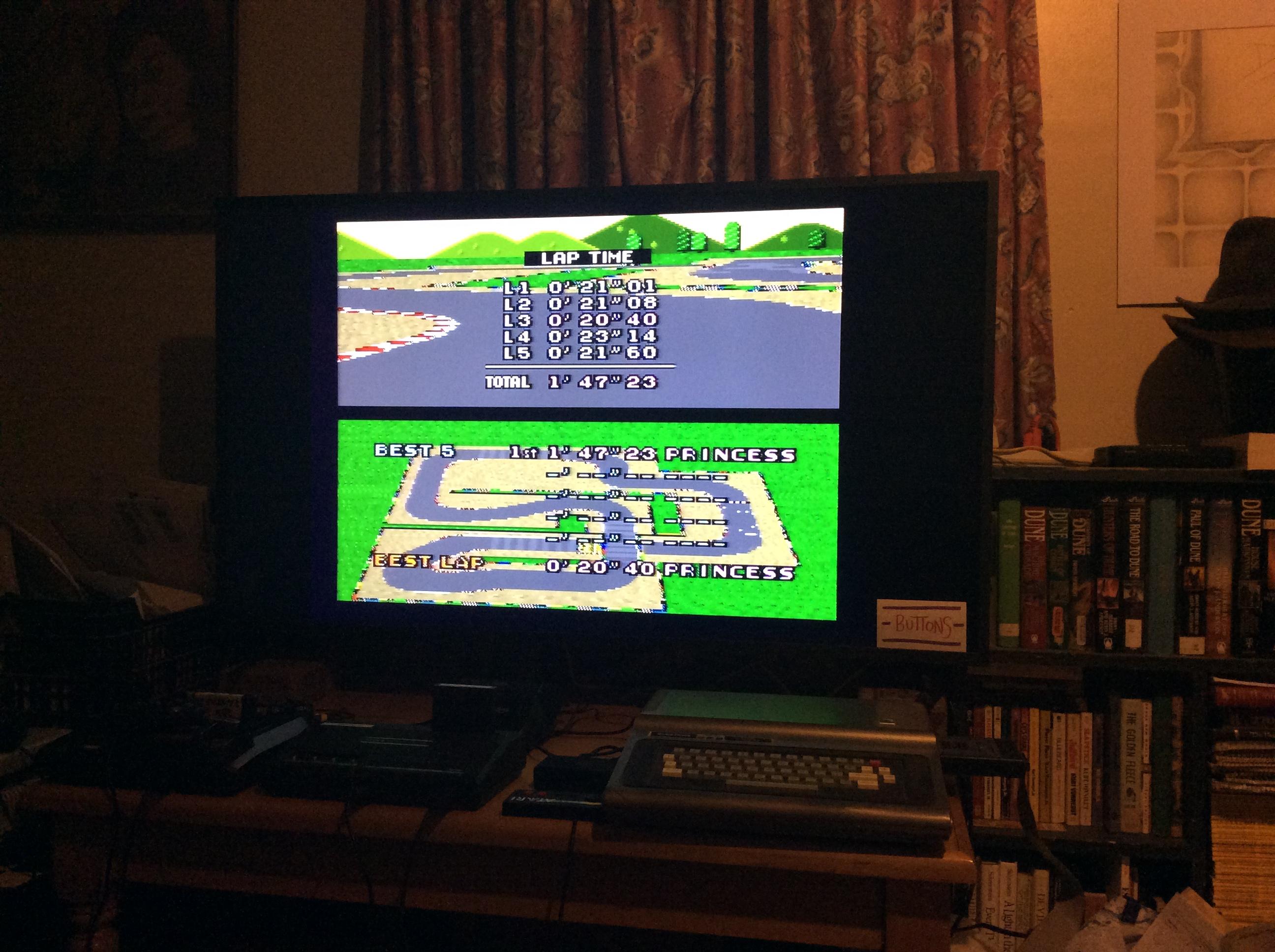 Super Mario Kart: Mario Circuit 2 [Time Trial] [Lap Time] time of 0:00:20.4