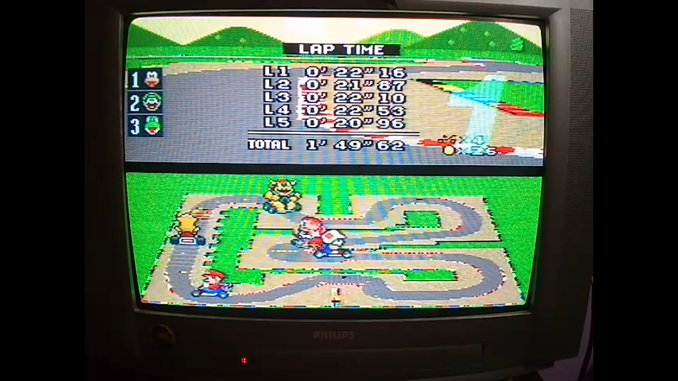 omargeddon: Super Mario Kart: Mario Circuit 3 [50cc] [Lap Time] (SNES/Super Famicom) 0:00:20.96 points on 2020-04-27 00:52:30