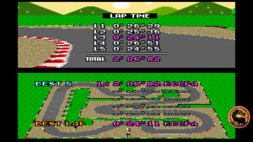omargeddon: Super Mario Kart: Mario Circuit 3 [Time Trial] (SNES/Super Famicom Emulated) 0:02:06.82 points on 2019-12-29 16:14:32