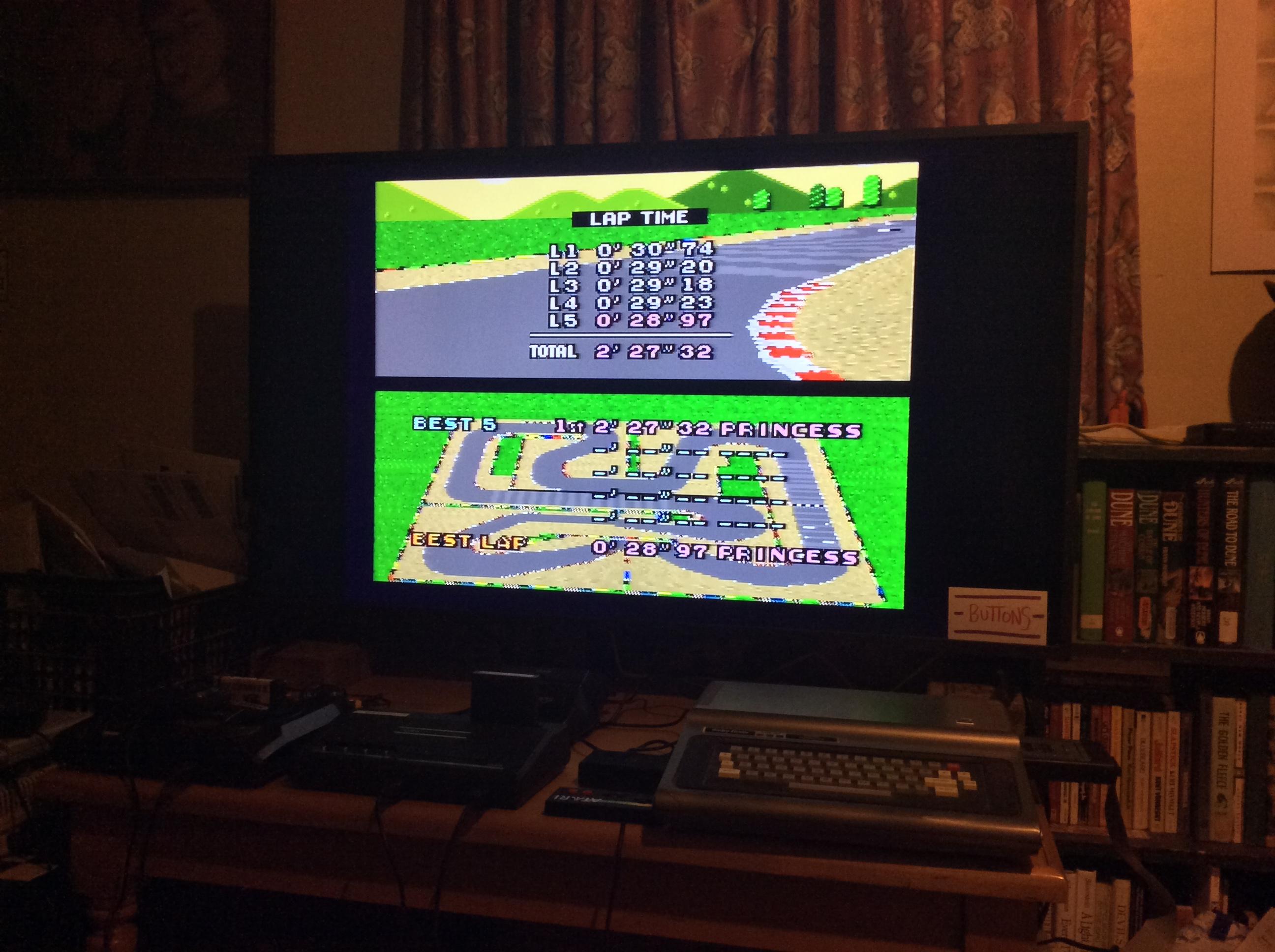 Super Mario Kart: Mario Circuit 4 [Time Trial] time of 0:02:27.32