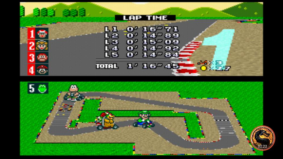 omargeddon: Super Mario Kart [Mushroom Cup: Mario Circuit 1 - 50CC] (SNES/Super Famicom Emulated) 0:01:16.45 points on 2019-07-11 12:19:01