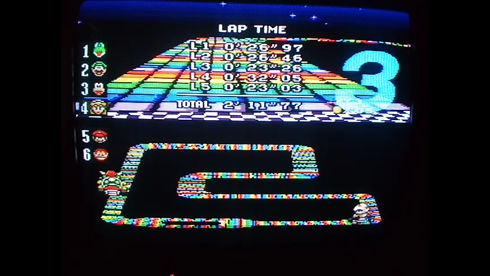 omargeddon: Super Mario Kart: Rainbow Road [100cc] [Lap Time] (SNES/Super Famicom) 0:00:23.26 points on 2020-04-27 17:59:21
